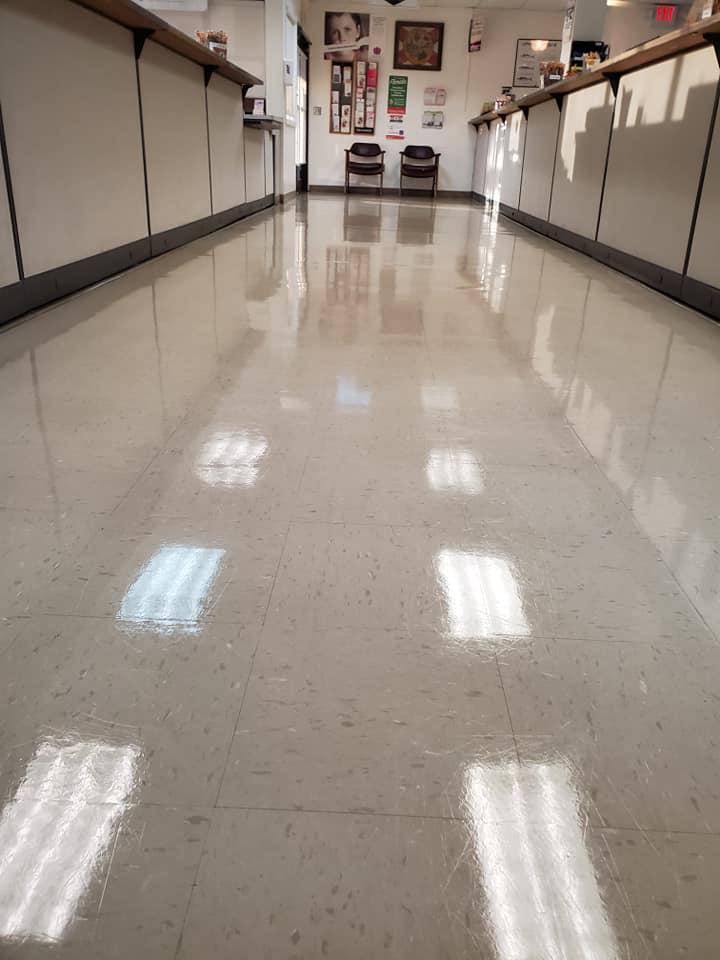Maintenance VCT floor