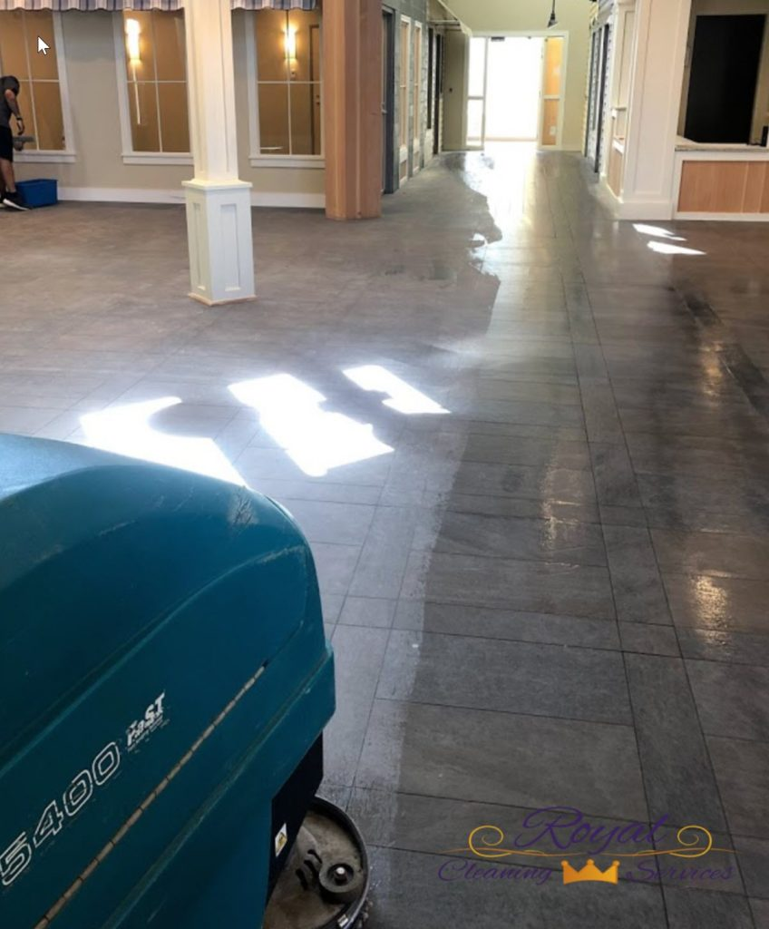 Maintenance of VCT floor