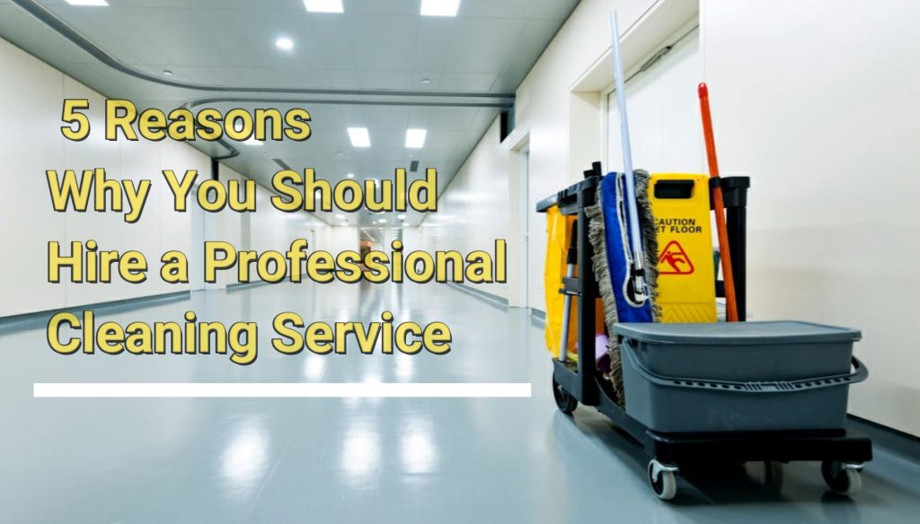 Top 5 Reasons Why You Should Hire a Professional Cleaning Service